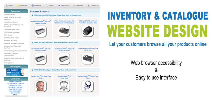 Inventory and catalogue website